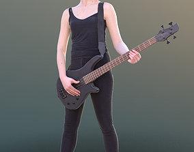 Francine 10344 - Standing Guitarist Woman 3D model