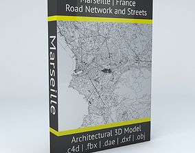 3D Marseille Road Network and Streets