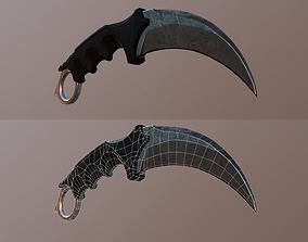 Karambit knife 3D model