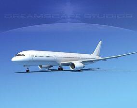 3D model Boeing 787-9 Dreamliner SS