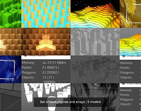 3D model Set of backgrounds and arrays