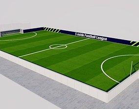 3D asset 5 A side field-pitch - Football