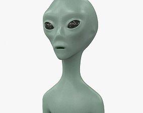 Alien character 3D model realtime