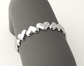 3D print model Hearts hoop ring