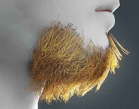 3D model Beard RealTime 15 Version 2 Low Poly