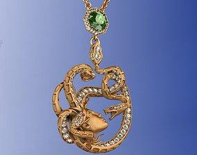 Mythology Diamond Ruby Tourmaline Necklace 3D print model