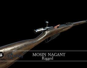 3D asset rigged Mosin Nagant