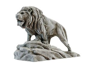 3D model Lion Sculpture
