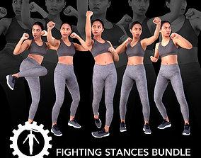Female Scan - Calypso Fighting Stances Bundle 3D model