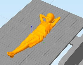 boy sunbathing 3D print model