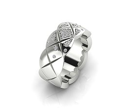 Ring 60b With Diamonds 3D print model