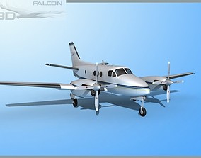 Falcon3D E90 King Air F05 rigged