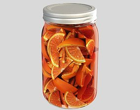 3D model Oranges in a can