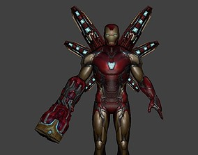 rigged Ironman Rigged 3d model from Avengers Endgame
