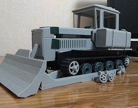 Soviet Tractor DT-75 printable 3D model