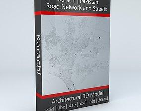 3D Karachi Road Network and Streets