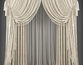 Curtain 3D model 363 game-ready