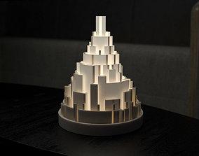 3D printable model Generative design City maze lamp4