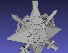 Official Irak polish star decoration 3D print model
