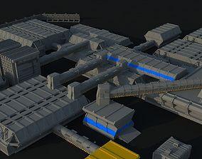 3D model Lv-426 Colonial Hadleys Hope