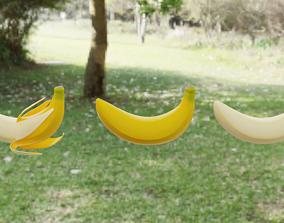 food Banana 3D asset VR / AR ready