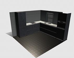 Modern Kitchen 3D model realtime