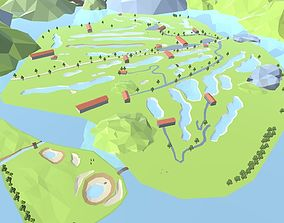 3D model Golf Game Low Poly