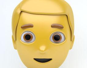 3D asset MAN emoji face