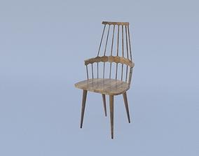 Chair wood interior 3D model