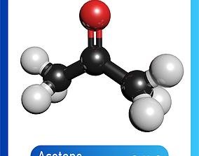 Acetone 3D Model C3H6O