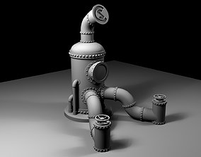 3D print model CopperSteam Labs Steampunk iPad Stand