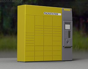 3D asset Packstation Object -4- Packstation with touchpad