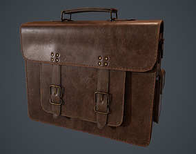 3D model Lowpoly PBR Leather Bag
