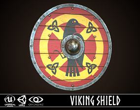 3D model Viking Shield 08