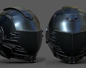 Helmet scifi military combat 3d model low VR / AR ready 2