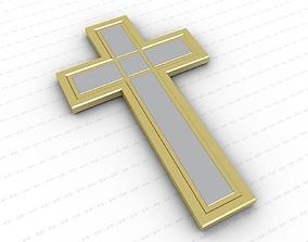 Cross 3D asset game-ready worship