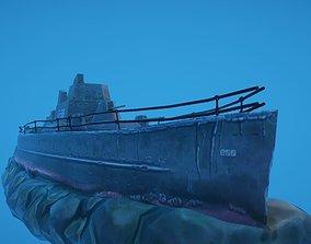 3D asset Battleship Shipwreck