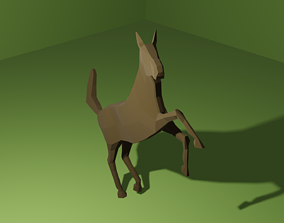 3D asset rigged realtime Low Poly Horse