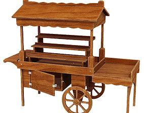 3D Wooden display cart