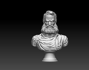 Man statue bust 3D print model