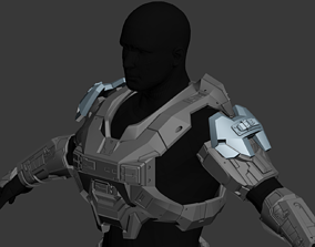 Reach Hazop Shoulder wearable 3D print model