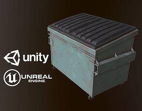 3D asset Dumpster - PBR Game Ready