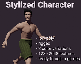 Low-Poly Rigged Stylized Character 3D asset