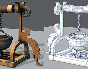 Charcoal Pot V01 3D asset