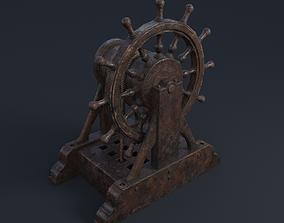 Black Pearl steering wheel 3D