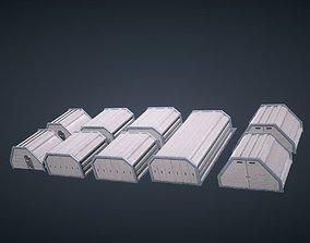 Mars KitBash - Hangars 3D asset