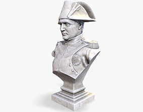 3D model Napoleon Bonaparte Bust lowpoly