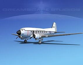 3D model Douglas C-47 Dakota USAF V01