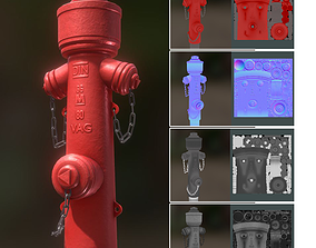 Red Fire Hydrant VAG Version 2 Low Poly Red 1 3D model