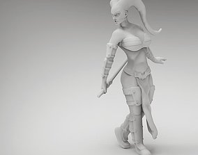3D print model 28mm Tattoo Female Space Warrior